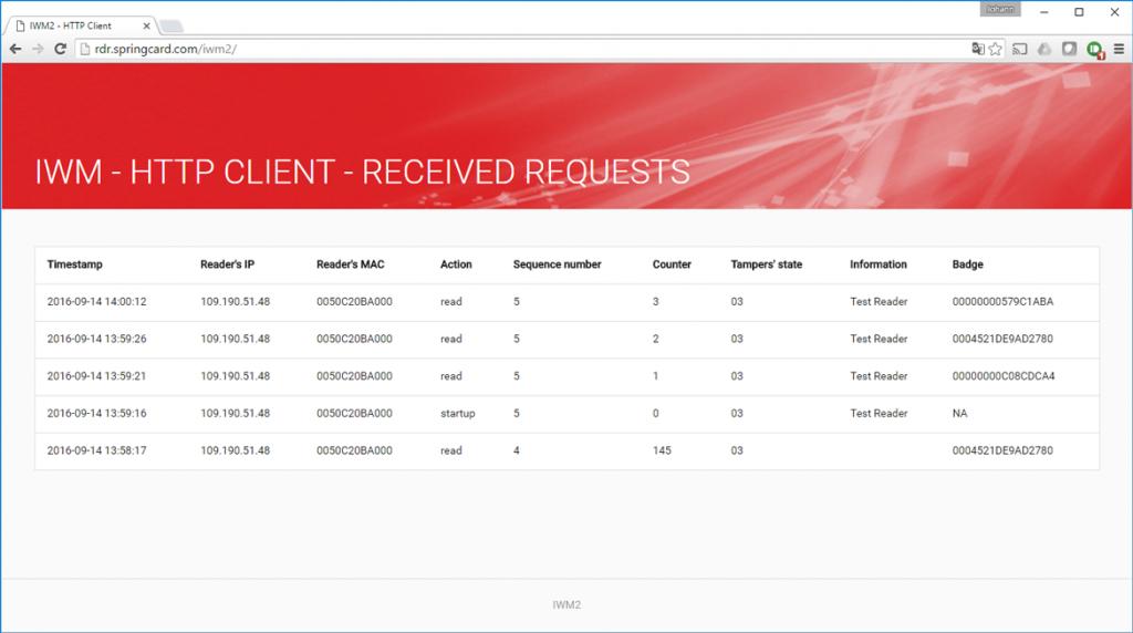 Snapshot of server page